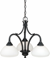 Vaxcel H0132 Grafton Oil Rubbed Bronze Mini Chandelier Lamp