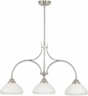 Vaxcel H0133 Grafton Satin Nickel Mini Chandelier Light
