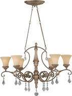 Vaxcel H0142 Avenant Traditional French Bronze Hanging Chandelier