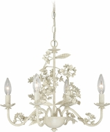 Vaxcel H0144 Leilani Traditional Antiqued White Mini Chandelier Lighting