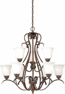 Vaxcel H0152 Hartford Weathered Patina Lighting Chandelier