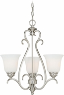 Vaxcel H0155 Hartford Satin Nickel Mini Ceiling Chandelier