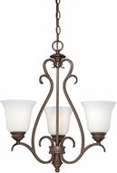 Vaxcel H0156 Hartford Weathered Patina Mini Hanging Chandelier