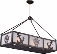 Vaxcel H0177 Nautique Sterling Bronze Halogen Island Lighting