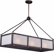 Vaxcel H0183 Lumos Sterling Bronze Halogen Kitchen Island Lighting