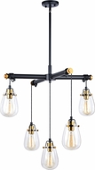 Vaxcel H0184 Kassidy Contemporary Black and Natural Brass Multi Pendant Lighting
