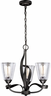 Vaxcel H0186 Cinta Contemporary Oil Rubbed Bronze Mini Chandelier Lighting