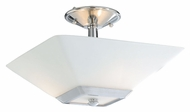 Vaxcel KD-CFU130CH Kendall Chrome Finish 13  Wide Flush Mount Lighting