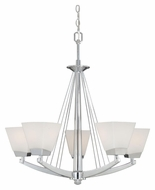 Vaxcel KD-CHU005CH Kendall Chrome Finish 27.5  Tall Chandelier Light