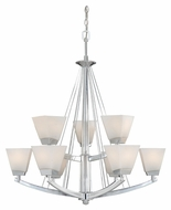 Vaxcel KD-CHU009CH Kendall Chrome 32.5  Wide Ceiling Chandelier