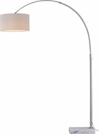 Vaxcel L0002 Luna Instalux Satin Nickel LED Arc Floor Lamp