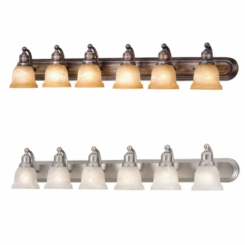 Vaxcel LS VLD106 LaSalle 8.75u0026nbsp; Wide 6 Light Bathroom Vanity Light  Fixture