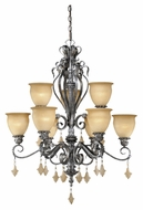 Vaxcel MM-CHU009AE Montmarte Traditional Athenian Bronze Finish 38  Tall Hanging Chandelier