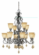 Vaxcel MM-CHU012AE Montmarte Traditional Athenian Bronze Finish 39.25  Wide Chandelier Light