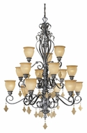 Vaxcel MM-CHU015AE Montmarte Traditional Athenian Bronze 58  Tall Chandelier Lighting