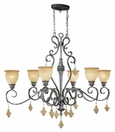 Vaxcel MM-PDU510AE Montmarte Traditional Athenian Bronze 51  Wide Lighting Chandelier