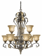 Vaxcel MO-CHU009PU Monaco Traditional Peruvian Patina 35.5  Wide Chandelier Light