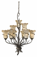 Vaxcel MY-CHU009AA Monterey Rustic Autumn Patina Finish 34.5  Tall Hanging Chandelier