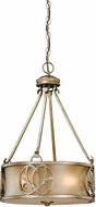 Vaxcel NB-PDU150VB Newbury Venetian Brass Finish 15  Wide Drop Lighting Fixture