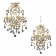 Vaxcel NC-CHU004GW Newcastle Gilded White Gold Finish 13  Wide Mini Chandelier / Ceiling Light