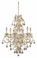 Vaxcel NC-CHU006GW Newcastle Gilded White Gold Finish 34.5  Tall Ceiling Chandelier