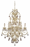 Vaxcel NC-CHU009GW Newcastle Gilded White Gold 29  Wide Hanging Chandelier