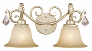 Vaxcel NC-VLD002GW Newcastle Gilded White Gold Finish 8.5  Tall 2-Light Bath Sconce
