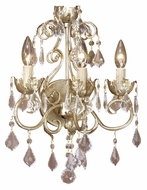 Vaxcel NC-WLU003GW Newcastle Gilded White Gold 17.25  Tall Wall Lighting