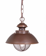 Vaxcel OD21506BBZ Harwich Nautical Burnished Bronze Finish 10 Wide Outdoor Mini Hanging Lamp