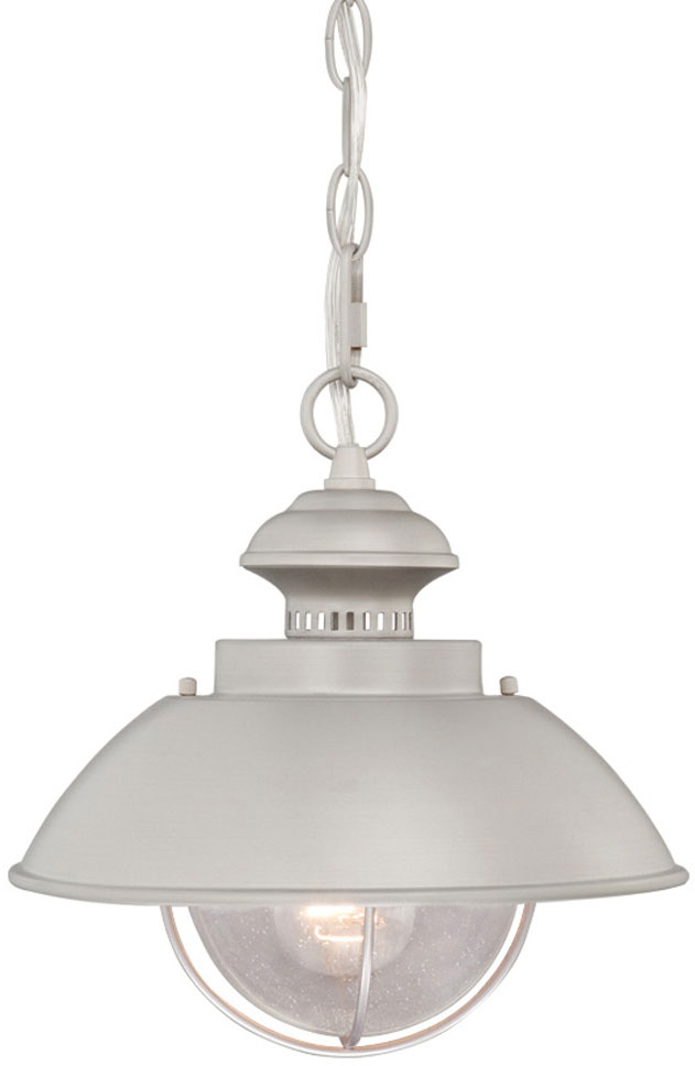Vaxcel OD21518BN Harwich Nautical Brushed Nickel Finish 10u0026nbsp; Wide  Outdoor Mini Pendant Light Fixture. Loading Zoom