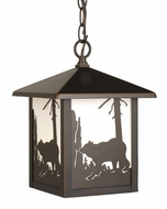 Vaxcel OD35086BBZ Bozeman Burnished Bronze Finish 8  Wide Exterior Lighting Pendant