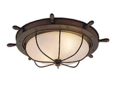 Vaxcel Of25515rc Orleans Nautical Antique Red Copper Finish 15 Quot Wide Exterior Flush Mount