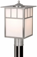 Vaxcel OP14695ST Mission Craftsman Stainless Steel Finish 15  Tall Exterior Lamp Post Light Fixture