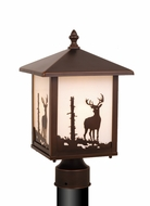 Vaxcel OP33585BBZ Bryce Burnished Bronze Finish 14  Tall Exterior Lamp Post Light