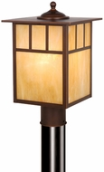 Vaxcel OP37295BBZ Mission Craftsman Burnished Bronze Finish 9  Wide Outdoor Post Light Fixture