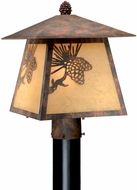 Vaxcel OP50585OA Whitebark Craftsman Olde World Patina Finish 11  Wide Outdoor Lamp Post Light