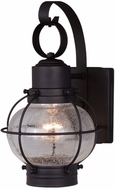 Vaxcel OW21861TB Chatham Nautical Textured Black Finish 7.25 Wide Outdoor Wall Mounted Lamp