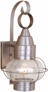 Vaxcel OW21881BN Chatham Nautical Brushed Nickel Finish 8.5 Wide Outdoor Wall Lighting Fixture