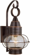 Vaxcel OW21891BBZ Chatham Nautical Burnished Bronze Finish 11  Wide Outdoor Wall Sconce Light
