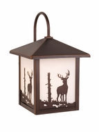 Vaxcel OW33583BBZ Bryce Burnished Bronze Finish 9  Wide Outdoor Wall Lamp