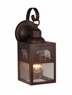 Vaxcel OW35053BBZ Bozeman Burnished Bronze Finish 13  Tall Exterior Wall Lighting