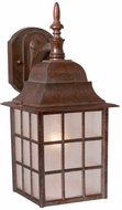 Vaxcel OW36763RBZ Vista Craftsman Royal Bronze Finish 14.5  Tall Exterior Lamp Sconce