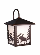 Vaxcel OW36983BBZ Yellowstone Burnished Bronze Finish 12.5 Tall Exterior Light Sconce