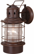 Vaxcel OW37001BBZ Hyannis Retro Burnished Bronze Finish 21.38  Tall Exterior Wall Light Fixture