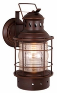 Vaxcel OW37051BBZ Hyannis Retro Burnished Bronze Finish 12.25  Tall Exterior Wall Lighting Sconce