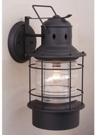 Vaxcel OW37081TB Hyannis Vintage Textured Black Finish 10  Wide Outdoor Wall Light Sconce