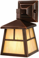 Vaxcel OW37263BBZ Mission Craftsman Burnished Bronze Finish 9.5  Wide Outdoor Wall Light Sconce