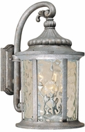 Vaxcel OW39053GS Bathesda Traditional Gilded Silver Exterior Wall Light Sconce