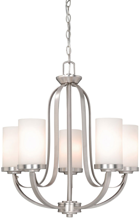 brushed nickel chandelier canopy lowes aztec lighting 6 light ox oxford contemporary finish tall