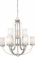 Vaxcel OX-CHU009BN Oxford Modern Brushed Nickel Finish 29  Wide Ceiling Chandelier